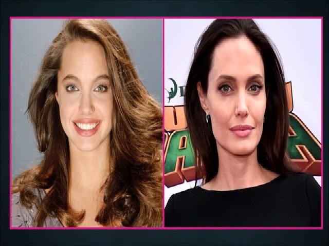 Gương mặt Angelina Jolie sau 25 năm vào showbiz