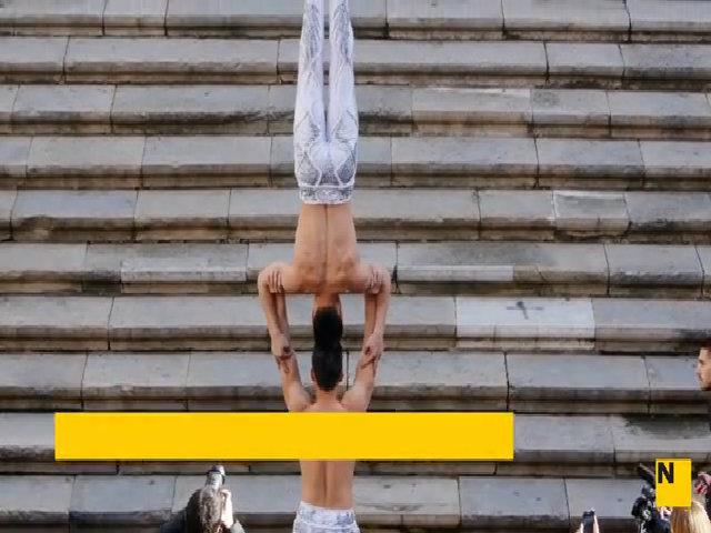 Quốc Cơ - Quốc Nghiệp lập kỷ lục Guiness về giữ thăng bằng trên đầu