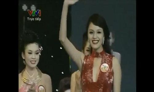 Khoảnh khắc Hoàng Anh vào top 5 Hoa hậu Việt Nam 2012