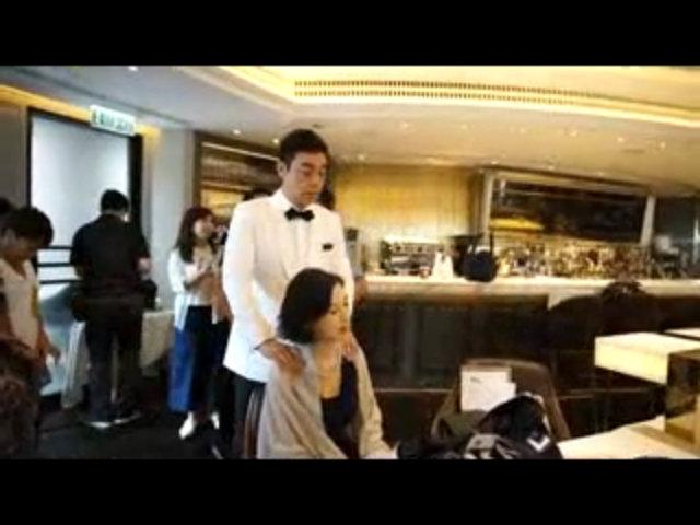 Vợ chồng Lưu Thanh Vân ngọt ngào ở hậu trường