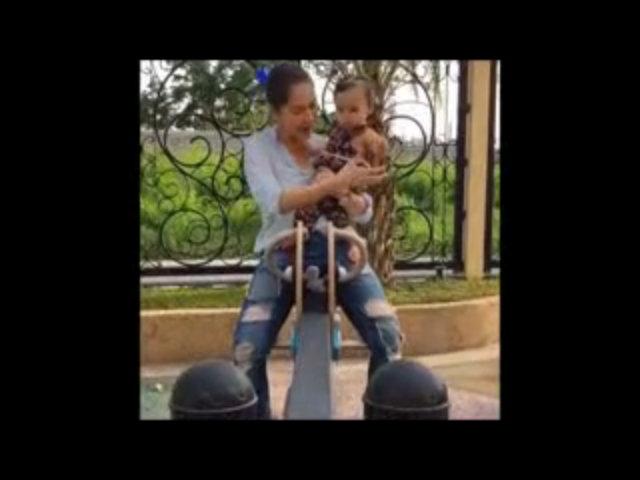 Marian Rivera chơi cùng con gái