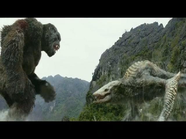 Một pha dựng hoàn toàn từ kỹ xảo trong 'Kong'