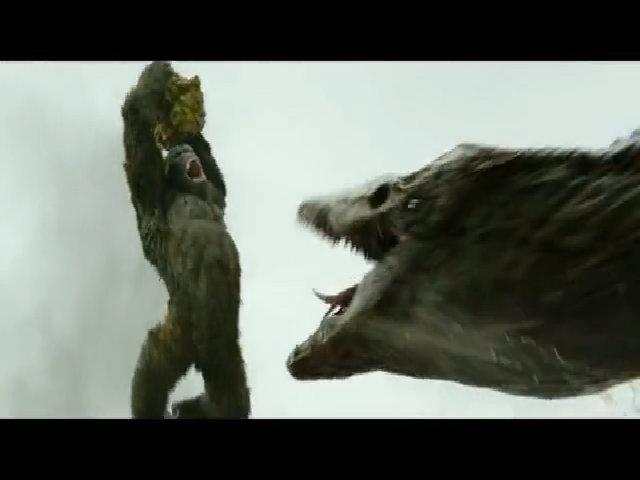 Vua khỉ chuyển động khi chiến đấu