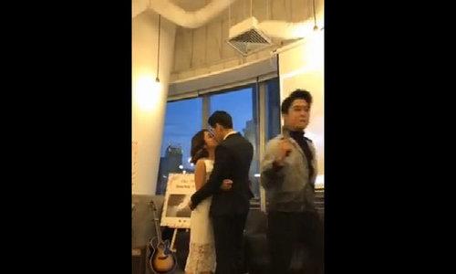 Quang Đăng, Thái Trinh hôn nhau khi bị nghi 'diễn'