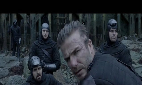 "David Beckham trong ""King Arthur"""
