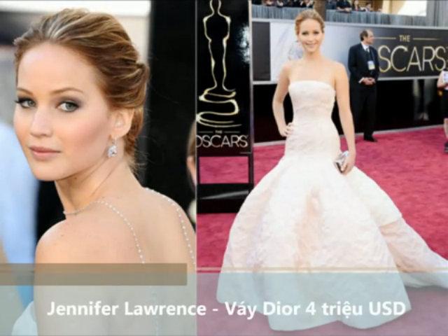 Những chiếc váy đắt tiền nhất của sao Hollywood trên thảm đỏ