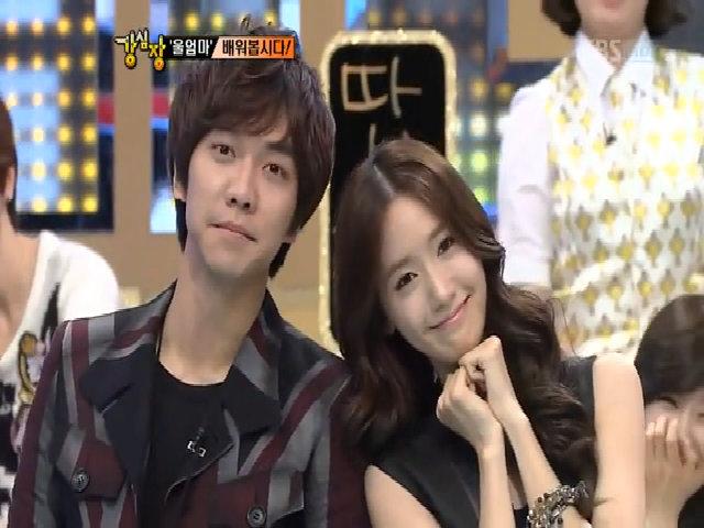 Yoona và Lee Seung Gi trong 'Strong heart' năm 2011