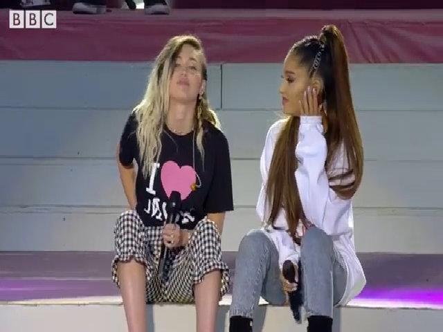 "Ariana Grande & Miley Cyrus - ""Don't Dream It's Over"""