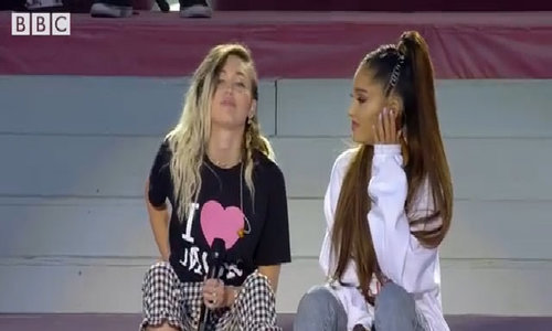 "Ariana Grande & Miley Cyrus - ""Don't Dream It's Over"""
