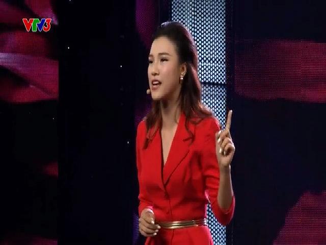 Bài diễn thuyết về tình yêu của á hậu Hoàng Oanh trong chương trình Hoán đổi