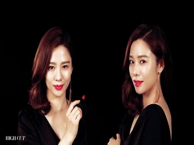 Kim Hyun Joo quyến rũ với tông son đỏ