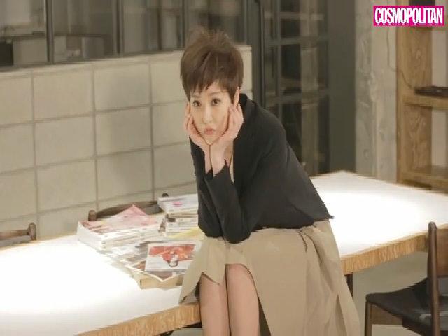 Kim Sun Ah khoe cá tính khi chụp tạp chí hồi tháng ba