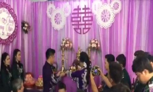 Video Trung Kiên - Lê Phương trao trầu cau
