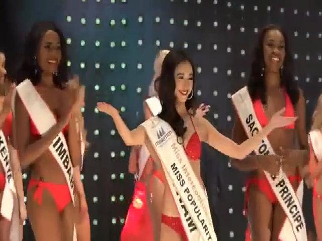 Hà Thu thi bikini ở Miss Intercontinental 2015