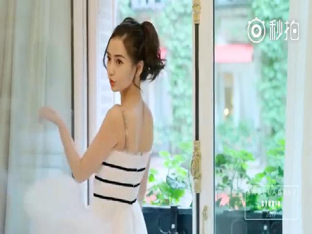 Angelababy diện váy Dior