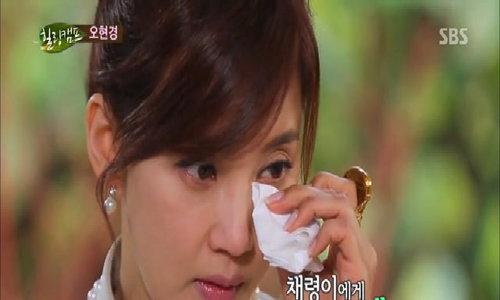 Oh Hyun Kyung khóc khi nói về con gái trên truyền hình