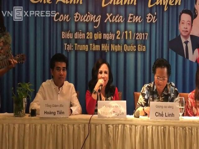 Chế Linh và Thanh Tuyền hát tặng khán giả