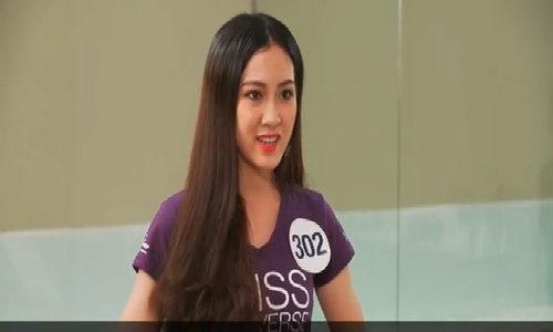 Thí sinh Hoa hậu Hoàn vũ gây hài khi nói tiếng Anh