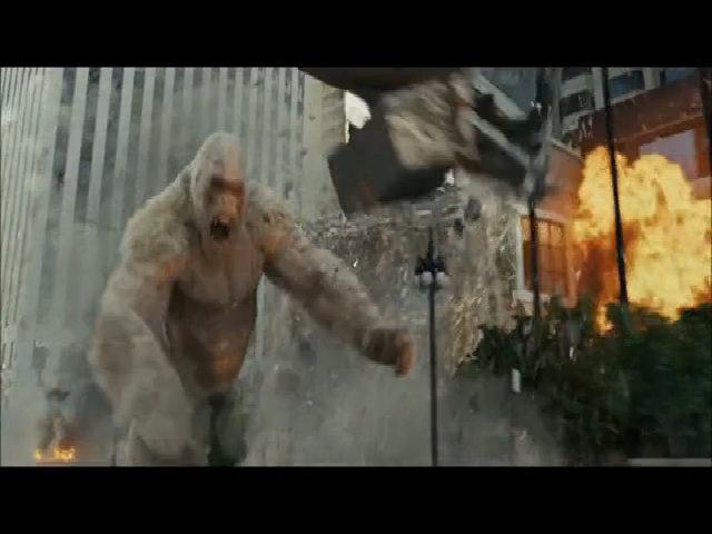 The Rock đại chiến khỉ khổng lồ trong Rampage