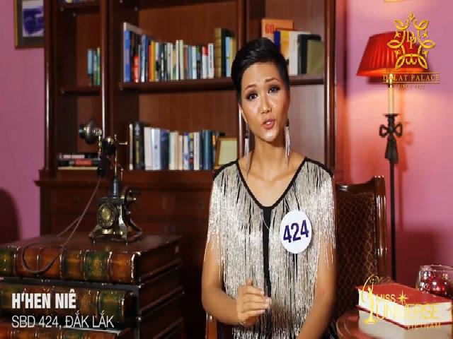 Phần phỏng vấn của H'hen Niê tại Hoa hậu Hoàn vũ