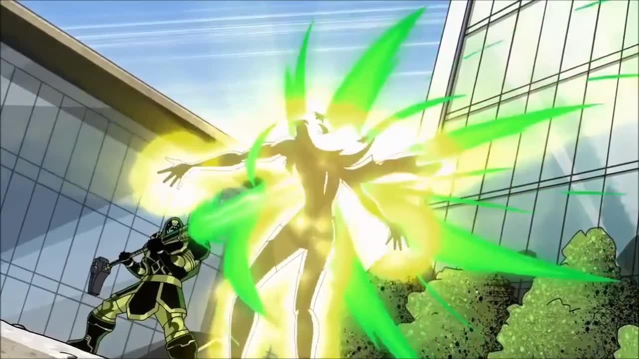 Captain Marvel chiến đấu trong phim hoạt hình