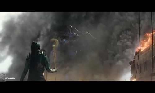 Megazord xuất hiện trong Power Rangers (2017)