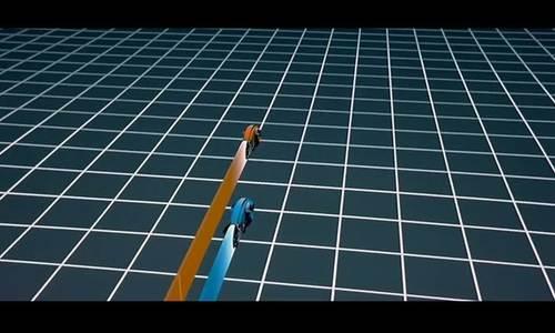 Cảnh đua xe bằng kỹ xảo trong phim Tron