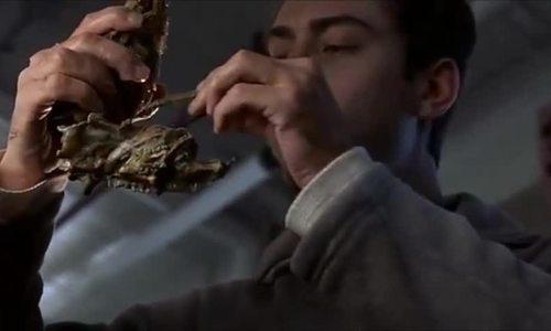 Ted lắp khẩu súng từ xương động vật trong eXistenZ