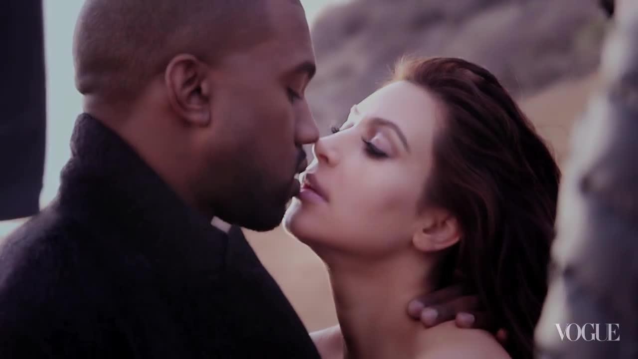 Kim Kardashian chụp hình trên Vogue