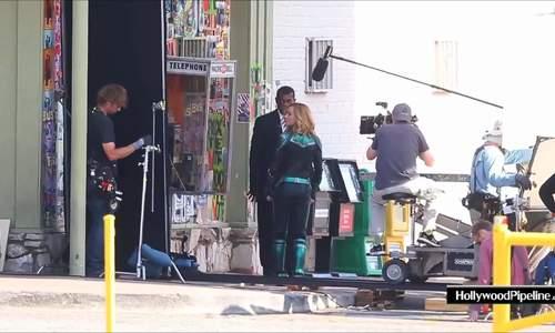 """Một khoảnh khắc trên trường quay """"Captain Marvel"""""""