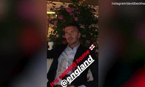 David Beckham, Robbie Williams mừng tuyển Anh vào bán kết World Cup