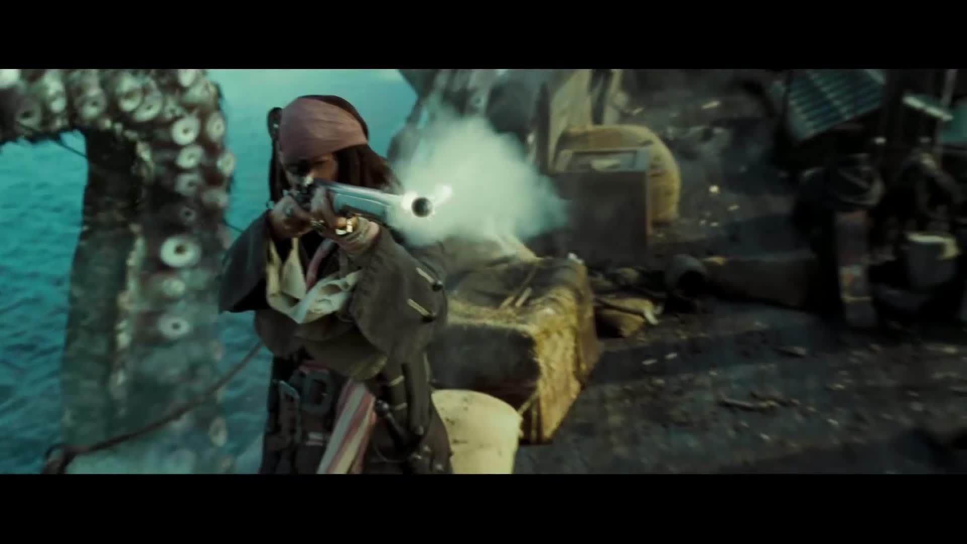 Pirates of the Caribbean - Dead Man's Chest, Kraken tấn công tàu ngọc trai đen