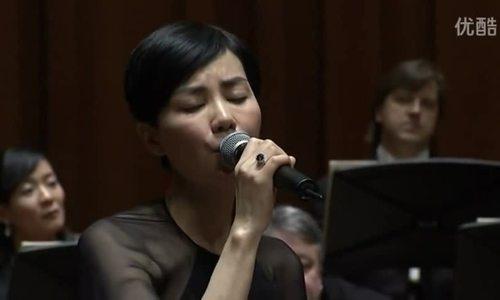 Vương Phi biểu diễn cùng dàn nhạc