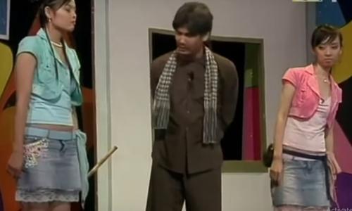 Xuân Thùy diễn hài cùng Thu Trang, Tiết Cương ở 'Gala Cười 2005'