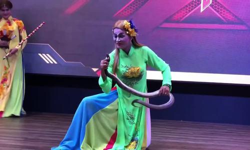 Nghệ nhân miền Tây xiếc rắn, múa lông công gây kinh ngạc