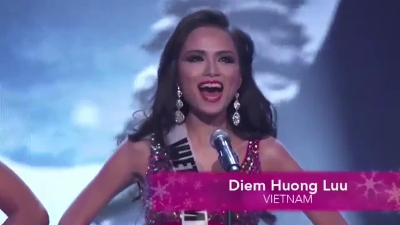 Dấu ấn Diễm Hương ở Miss Universe 2012
