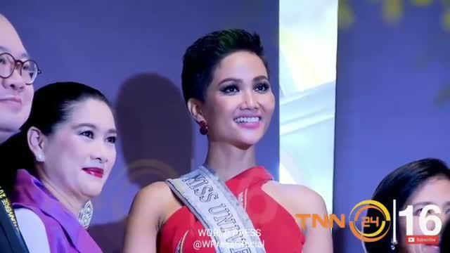 H'Hen Niê ra mắt báo chí ở Thái Lan