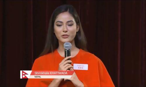 Hoa hậu Nepal trình bày về dự án nhân ái