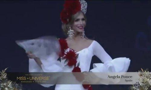 Hoa hậu Tây Ban Nha trình diễn trang phục dân tộc