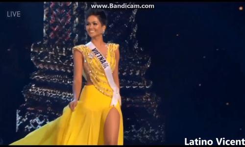 Màn xoay váy của H'Hen Niê gợi nhớ Hoa hậu Hoàn vũ Dayana Mendoza