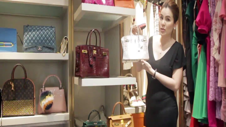 Căn phòng chứa đầy túi hiệu, kim cương của hoa hậu Phương Lê
