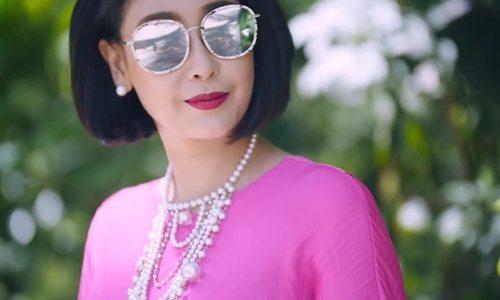 Hà Kiều Anh diện váy hồng Đỗ Mạnh Cường