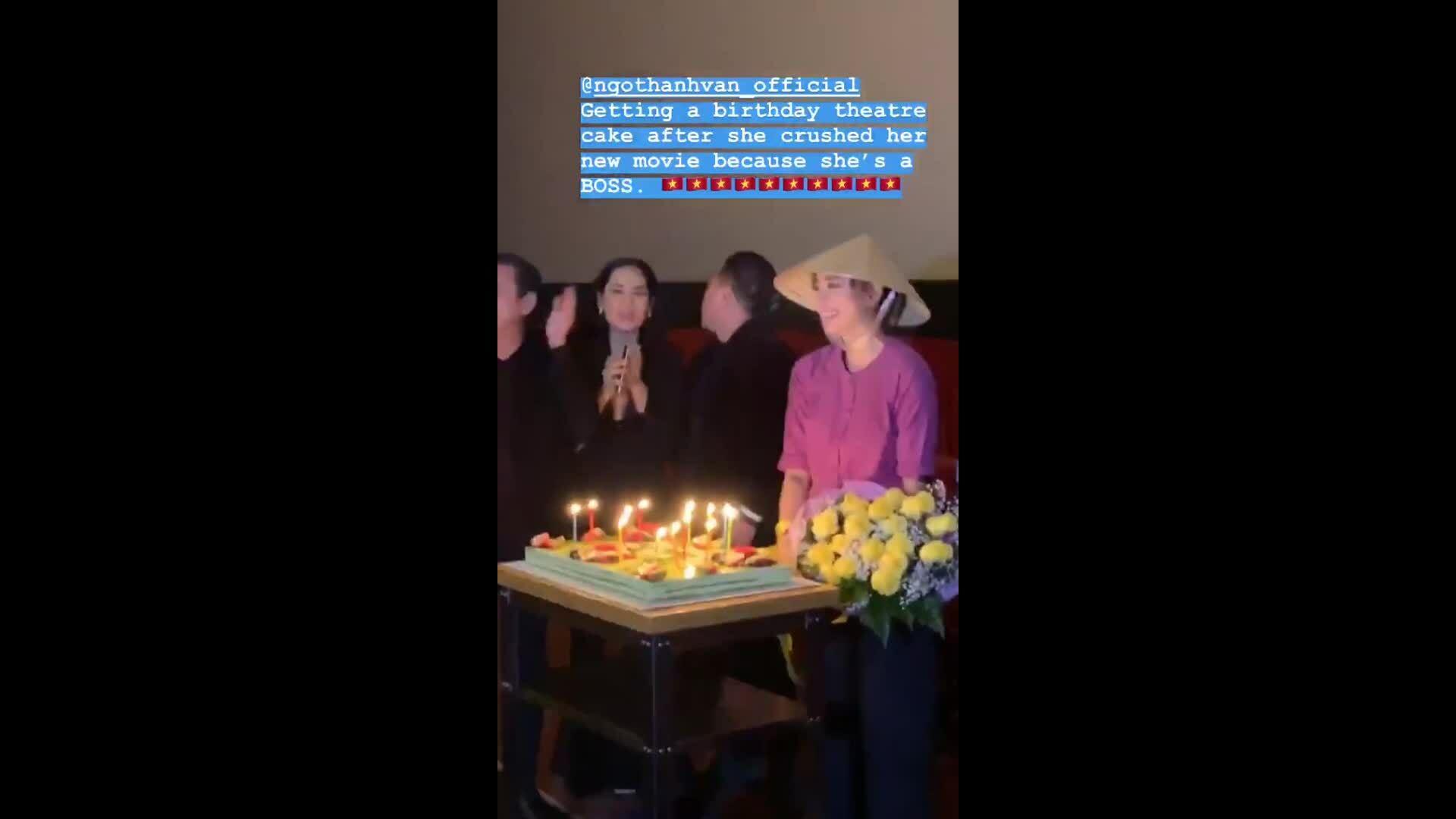 Ngô Thanh Vân mừng sinh nhật trong rạp phim ở Mỹ
