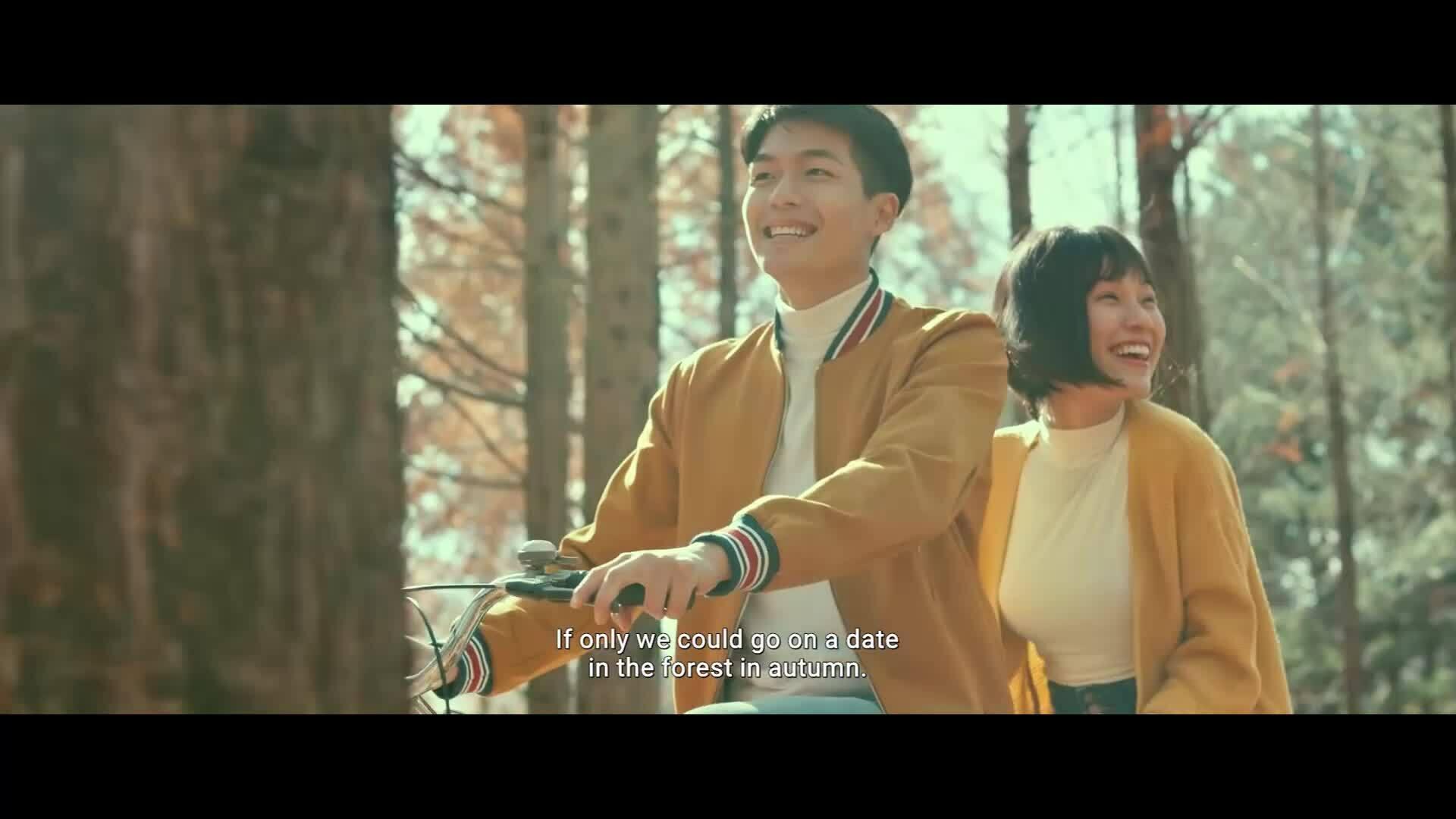 """Trailer """"Ước hẹn mùa thu"""" của Hoàng Oanh hé lộ cảnh mùa thu Hàn Quốc"""