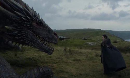 "Jon Snow tiếp xúc với rồng trong ""Game of Thrones"""