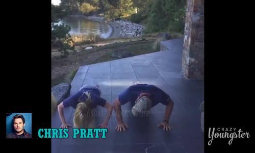 Cảnh tập luyện của Chris Pratt