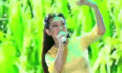 Hương Thủy hát 'Đàn sáo Hậu Giang' trong liveshow Mạnh Quỳnh tại TP HCM năm 2016