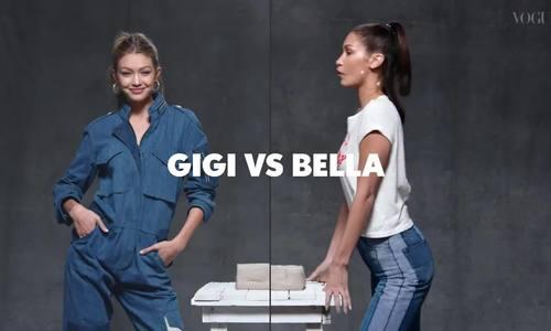 Gigi Hadid và Bella Hadid tham gia thử thách của Vogue