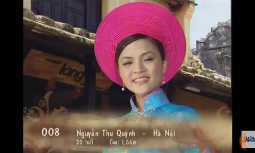Thu Quỳnh ở cuộc thi Hoa hậu Việt Nam 2008