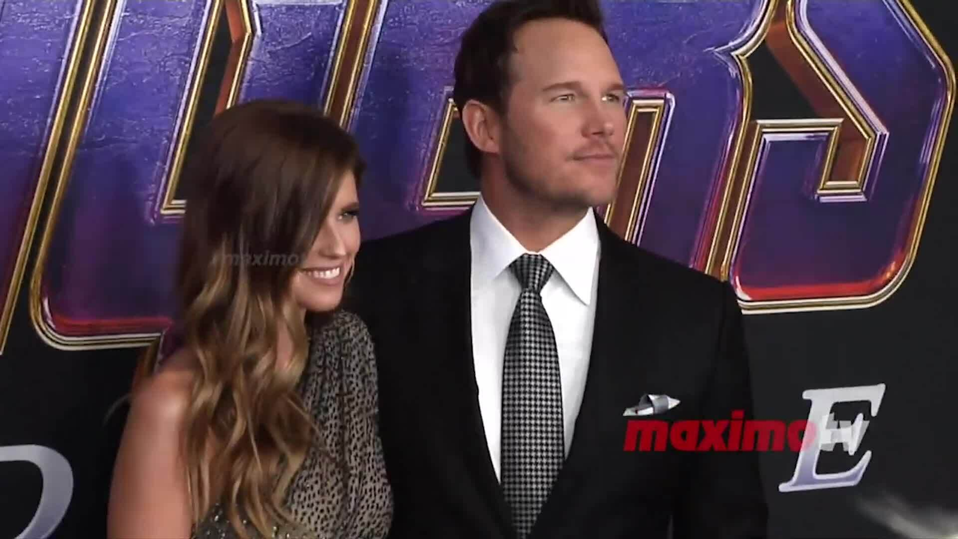 Chris Pratt và Katherine Schwarzenegger trên thảm đỏ Avengers Endgame